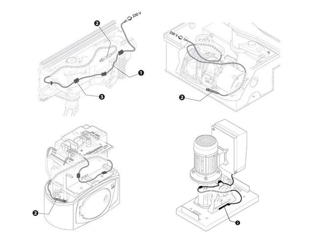001PSRT02 Кабель нагревательный со встроенным термостатом универсальный для приводов FERNI, FAST