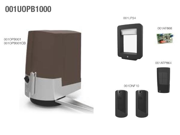 FAST BROWN комплект для распашных ворот со створками весом до 250кг или шириной до 2м каждая (CAME арт.001UOPB1000)