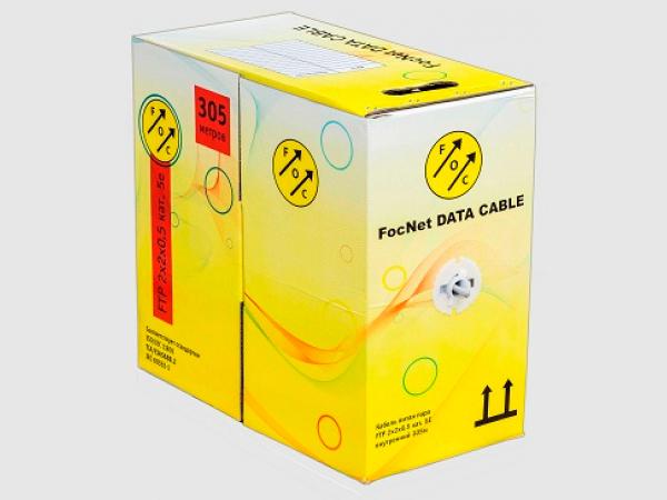 FocNet кабель витая пара UTP 2x2x0,5 cat.5e 2 пары Cu (бухта 305 м.)