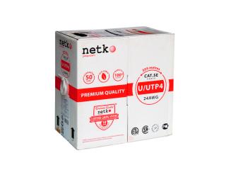 NETKO кабель витая пара U/UTP4 cat.5e 24 AWG 4 пары Cu (бухта 305 м.)