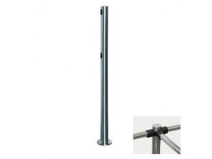 PERCo-BH02 2-03 трехсторонняя стойка с 6-ю отверстиями для крепления патрубков (углы  между парами отверстий 90 и 180град.)