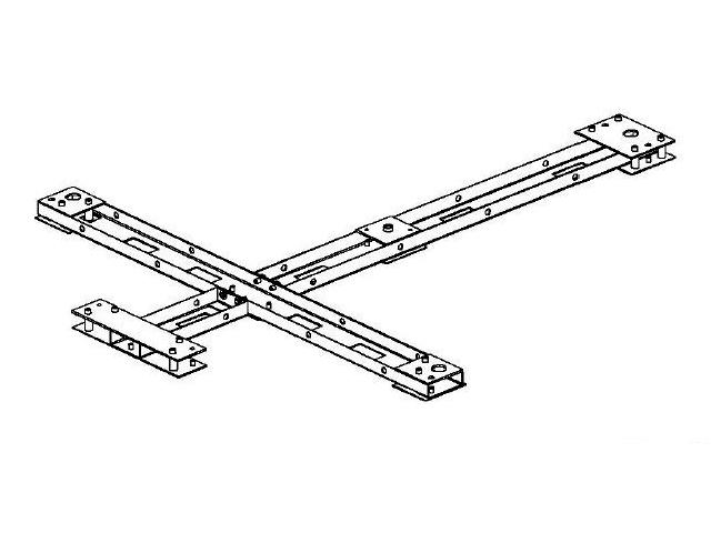 PERCo-RF01 0-01 рама монтажная для турникета роторного полноростового PERCo-RTD-15