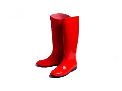 Сапоги резиновые женские красные