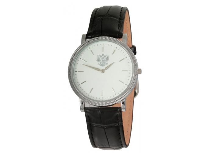 Часы Слава с серебристым двуглавым орлом