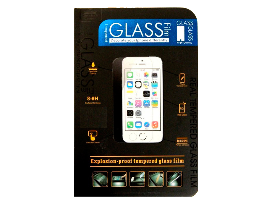 Защитное стекло усиленное для iPhone 5 5C 5S SE